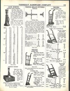 1938 Ad Simplex Ball Bearing Jack Screws Warehouse Dollies Railroad Hand Truck
