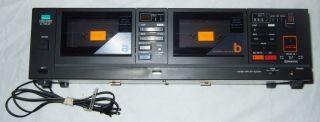 Vintage Sansui D 99CW Black Stereo Dual Cassette Deck 80's Audio Tape Double Dub