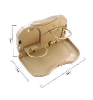 Car Travel Dining Tray Auto Tray Food Table Desk Stand Drink Cup Holder Bracket