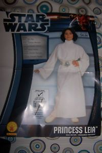 Childs Size Small 4 6 Star Wars Princess Leia Halloween Costume with Wig