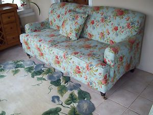 Beautiful Shabby Chic Cottage Country French Sofa and Chair Couch Floral