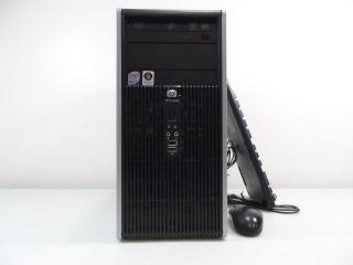 HP Quad Core 2 4GHz 4GB 1TB 64bit Keyboard Mouse CDR DVDR Windows 7 Pro DC5800