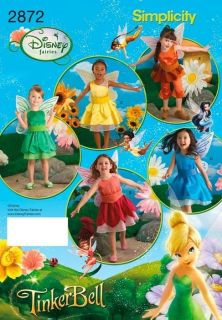 Simplicity Pattern 2872 Disney Fairies Tinkerbell Child's Costume Size 3 8