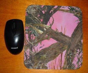 Mossy Oak Break Up Real Tree Camo Camouflage Hot Pink Mouse Pad Desk Chic Office