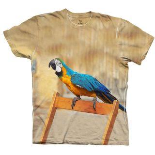 AnimalShirtsUSA Chair Macaw Parrot Tagless Mens Shirt