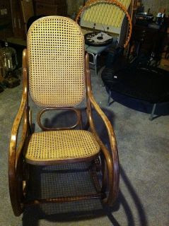 Antique Vintage Bentwood Baby Rocking Thonet Chair Rocker Charming Sleeping