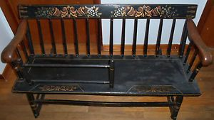 Antique Nanny Rocking Bench Mammy Cradle Baby Infant American Windsor