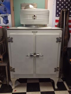 General Electric Antique Refrigerator Double Doors Monitor Top Dual Duel GE