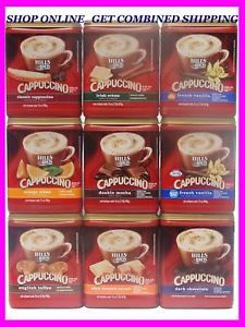 8 Flavors Hills Bros Cappuccino Hot Cold Drink Mix Exp New Fresh