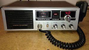General Electric CB Base Station Radio Model 3 5869A No Reserve 40 Channel