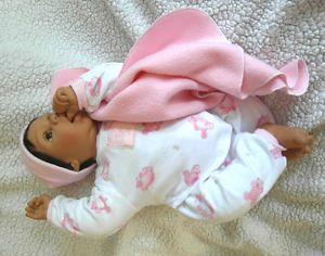 Lee Middleton Doll Thumb Sucker Infant 2003 Reva Schick Treasured Child Baby 20""
