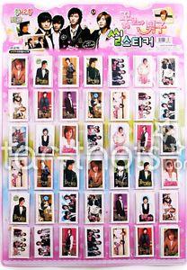 Boys Over Flowers Korean Drama K Pop Fashion Dress Up Stickers Photo Single Pack