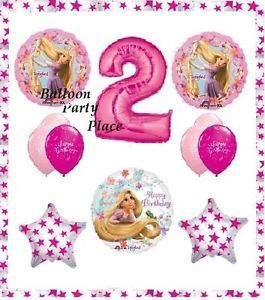 Disney Rapunzel Tangled Second 2nd Birthday Party Balloons Supplies Two Pink New