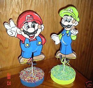 2 PC Mario Brothers Party Table Decorations Supplies