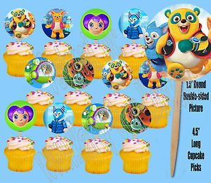 Disney Jr Special Agent Oso Double Sided Cupcake Picks Cake Toppers 12 Pcs