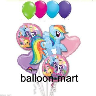 My Little Pony Rainbow Dash Bouquet Balloons Ribbon Birthday Party Decorations