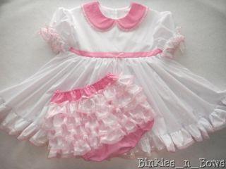 Little White Dress Set Adult Baby Sissy Custom Made