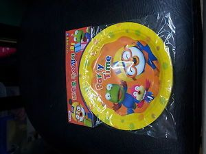 Pororo Birthday Party Supplies Set Paper Plates Cup Banner Balloons Hats