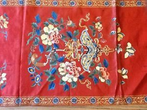 Chinese Antique Embroidered Tapestry Chair Cover Covered with Couched Gold