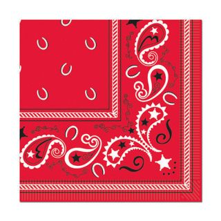 Wild West Western Cowboy Party Bandana Theme Pack of 16 Lunch Napkins