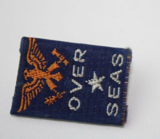 Vintage WWII Sweetheart Pin Over Seas Support Troops USA Home Front Cloth