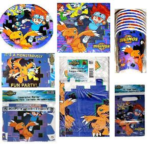 Digital Digimon Monsters Birthday Party Supplies Pick Buy The Items You Need