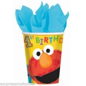 Sesame Street Elmo Abby Cookie 1st Birthday Party Cups x 18 Party Supplies