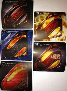 10 Superman Logo Man of Steel Stickers Party Favors Teacher Supply