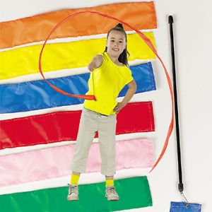 6 Ribbon Sticks Gym Dance Rhythmic Gymnastics Streamer Autism Physical Therapy