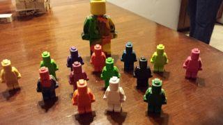 180 Lego Man Crayon Minifig Party Favor Ninjago Minifigure Free 4 inch Lego Man