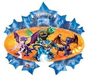 "35"" Skylander Marquee Mylar Balloon Boy Birthday Party Supplies Super Shaped"