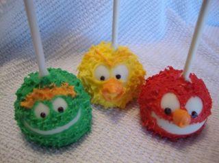 30 Sesame Street Brownie Pops Oscar Elmo Big Bird