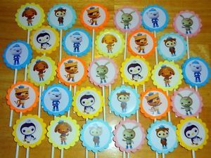 30 Octonauts Inspired Cupcake Toppers Birthday Party Favors Supply