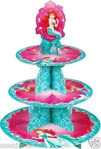 Disney Little Mermaid Ariel Cupcake Stand Cupcake Party Supplies