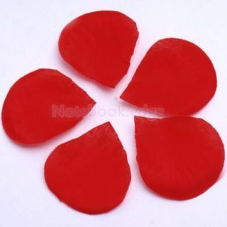 4X 300pc Red Silk Rose Petals Flowers Wedding Bridal Shower Party Table Scatters