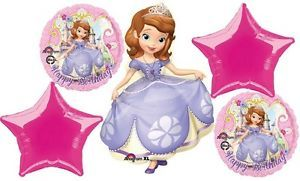 Disney Princess Sofia The 1st Birthday Party Balloons Bouquet Supplies HB Sophia