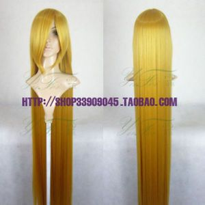 Cosplay Wig New Long Blonde Cosplay Party Wig 150cm