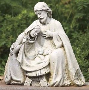 "10""Holy Family Garden Figurine Outdoor Statue Jesus New"