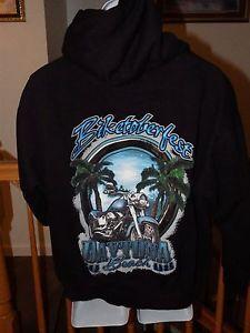 Daytona Beach Biketoberfest Hoodie Womans Sz L Black Attn Harley Fans