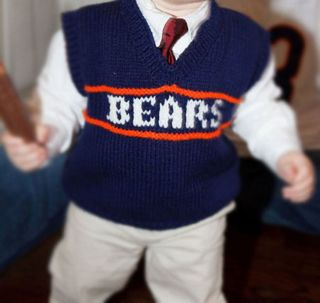 Chicago Bears Ditka Child Knitted Sweater Vest Sizes 12 Months To