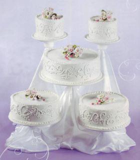 5 Tier Cupcake Stand Tree Dessert Wedding Cake w Satin