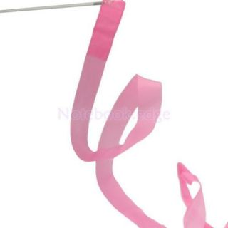 Pink Gym Rhythmic Gymnastic Ballet Dance Ribbon Streamer Party Musical Theatre