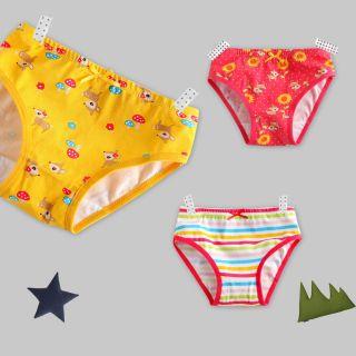 "3 Pcs New Vaenait Baby Toddler Kids Girl Underwear Briefs Pantie Set ""Bambi"""