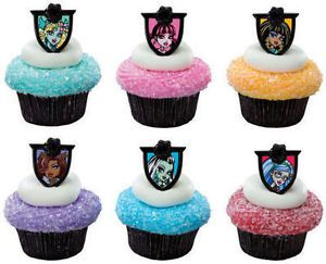 12 Pcs Monster High Cupcake Rings Party Favors Huge Lot Combined Shipping