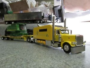 DCP 1 64 Custom Peterbilt with Custom John Deere Flatbed Load 53' Flatbed