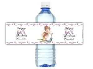 Fancy Nancy Birthday Party Supplies Water Bottle Labels