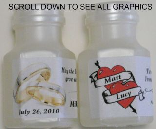 30 Personalized Bubble Labels Wedding Anniversary Bridal Shower Party Favors