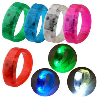 LED Sound Activated Light Glow Bracelet Wristband Bangle Party Disco Bar Gift