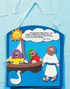 1 Jesus Walking on Water Foam Craft Kit Wall Hanging