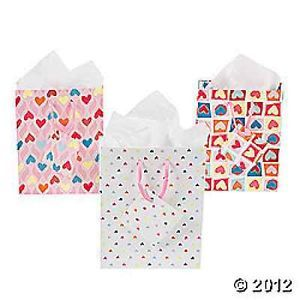Small Valentine Print Gift Bags Lot of 12 PC Halloween 32 1460